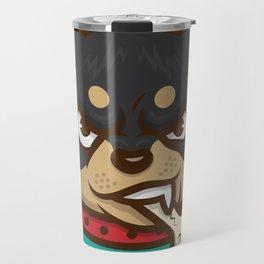 Rottie Pupper Travel Mug
