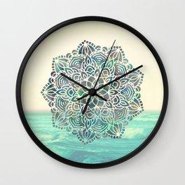 Mandala Mermaid Oceana Wall Clock