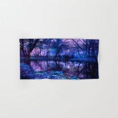 Enchanted Forest Lake Purple Blue Hand & Bath Towel