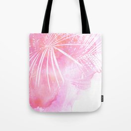 Abstract Pink Palm Tree Leaves Design Tote Bag