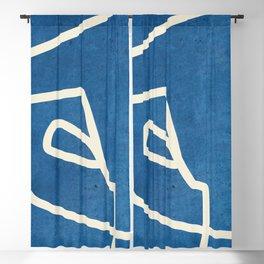 abstract minimal 57 Blackout Curtain