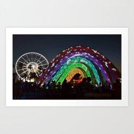 Rainbow Stars Art Print