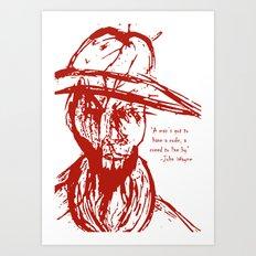 Cowboy Creed Art Print