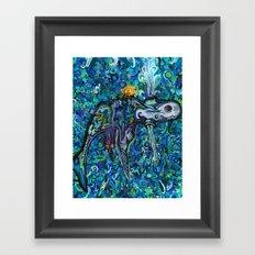 Light Whale Framed Art Print