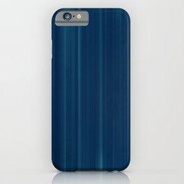Striate - Dark Blue Stripes Texture iPhone Case