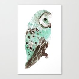 Watercolour Owl Canvas Print