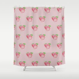 Color pencil Strawberry Shower Curtain