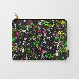 paint drop design - abstract spray paint drops 3 Carry-All Pouch