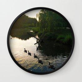 Morning Geese Wall Clock