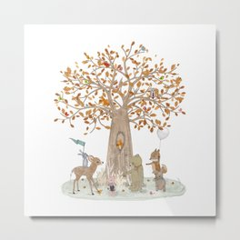 the little oak tree Metal Print