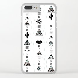 Native desert life print Clear iPhone Case
