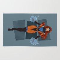 xmen Area & Throw Rugs featuring Jean Grey / X-Men by jerseytigermoth