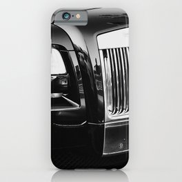 Rolls Grille // Black Luxury Car Close Up Photography Expensive Ultra Wealthy Autos iPhone Case