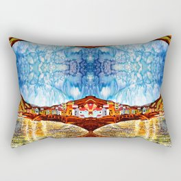 landskape-lake-fishing-oldtown Rectangular Pillow