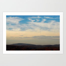 Mountains and Skies Art Print