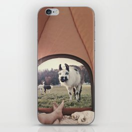 NEVER STOP EXPLORING - BACKCOUNTRY CAMPING iPhone Skin
