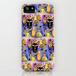 Midnight Black Cat & Magic Potion iPhone Case