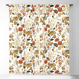 Amber Meadow, Floral Prints Blackout Curtain