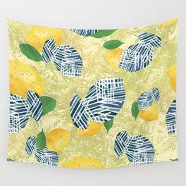 yellow lemons Wall Tapestry