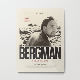 Film Poster-Bergman 2018. Metal Print