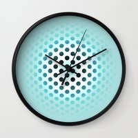 polka dot Wall Clocks featuring Polka dot by PiliArt