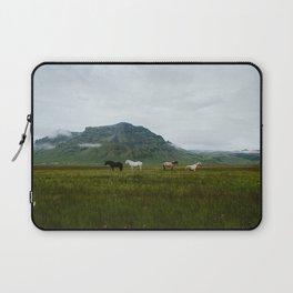 Icelandic Horses Posing for a Photo Laptop Sleeve