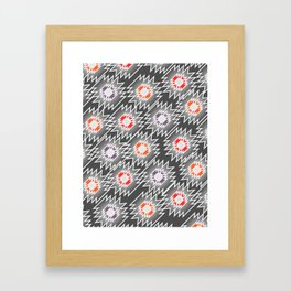 Bright shiny decor in the dark Framed Art Print