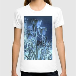 Spring Flowers Tulpis in The Night T-shirt