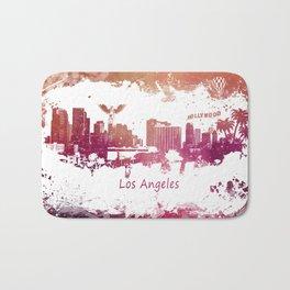 Los Angeles California skyline Bath Mat