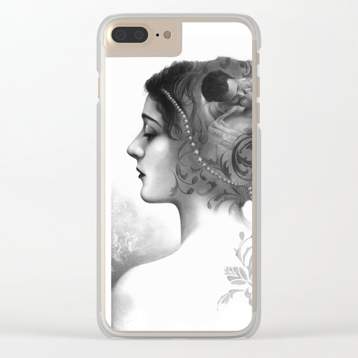Requiro - pencil drawing Clear iPhone Case