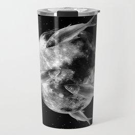 fish thank with floathing moon Travel Mug