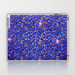 Blue Sub-atomic Lattice Laptop & iPad Skin
