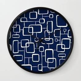 On The Quad - Navy Blue Wall Clock