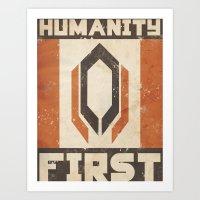 Humanity First Art Print