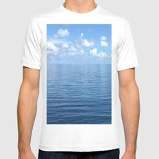 Relax and Drift away Mens Fitted Tee MEDIUM White