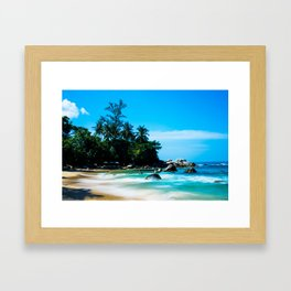Leam Sing Beach Framed Art Print
