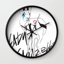 Lady Gagazelle Wall Clock