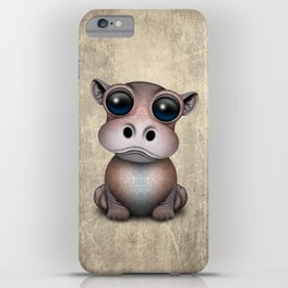 Cute Baby Hippo iPhone Case