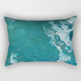 A View From Space, abstract acrylic fluid painting Rectangular Pillow
