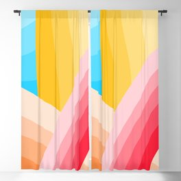 Colorful Crossed Lines Blackout Curtain