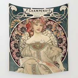 Alphonse Mucha - F. Champenois Imprimeur-Editeur, 1898 Wall Tapestry