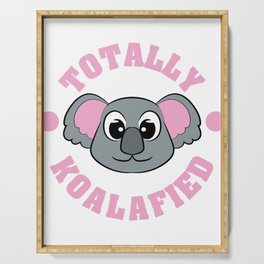 """Be """"Totally Koalafied"""" with this cute and adorable koala inviting you to grab them now!  Serving Tray"""