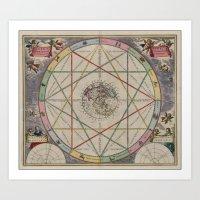 andreas preis Art Prints featuring Andreas Cellarius by Public Domain