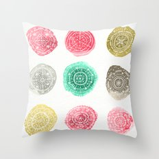Crafty Stains Throw Pillow