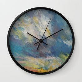 Clouds at Sunset Wall Clock