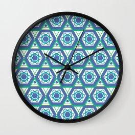 Geometric Shapes 4 Wall Clock