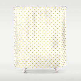 Dots (Gold/White) Shower Curtain