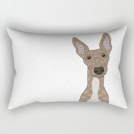 Cute Fawn Greyhound with white belly Rectangular Pillow