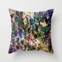vintage flowers Throw Pillows featuring Vintage Flowers by Vitta
