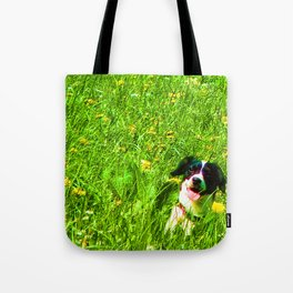 Dog in the Field Tote Bag